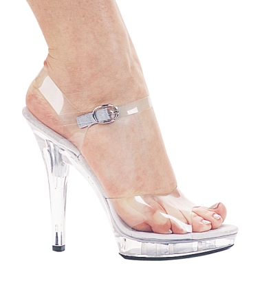 Ellie Sexy Clear Ankle Strap Open Toe High Heel Dancer Shoes at Sears.com