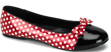 Pleaser Red Polka Dot Minnie Mouse Flat Costume Shoes at Sears.com