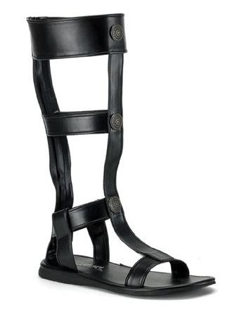 Pleaser Mens Roman Gladiator Costume Black Sandal at Sears.com
