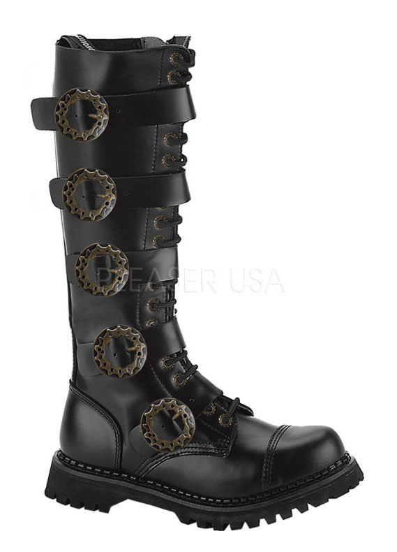 Pleaser Mens Steampunk Cosplay Black Leather Buckle Strap at Sears.com