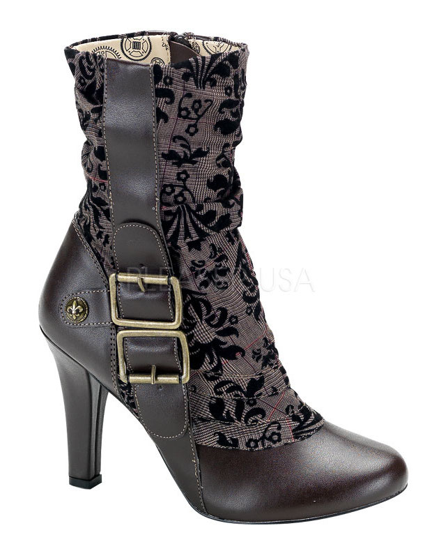 Pleaser Womens Victorian Steampunk Cosplay Brown Tweed Spat at Sears.com
