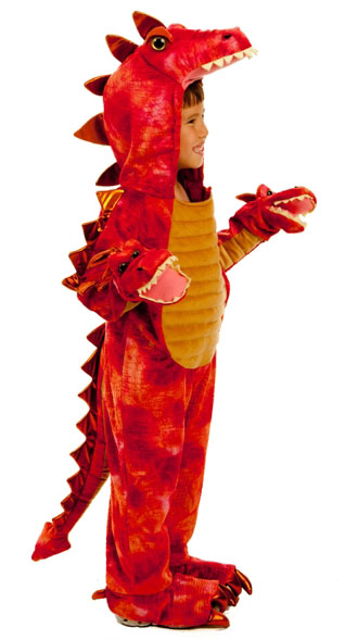 Infant Baby Toddler Boys Red Dragon Hydra Halloween Costume