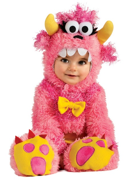 Infant Baby Girls Cute Pink Monster Halloween Costume on