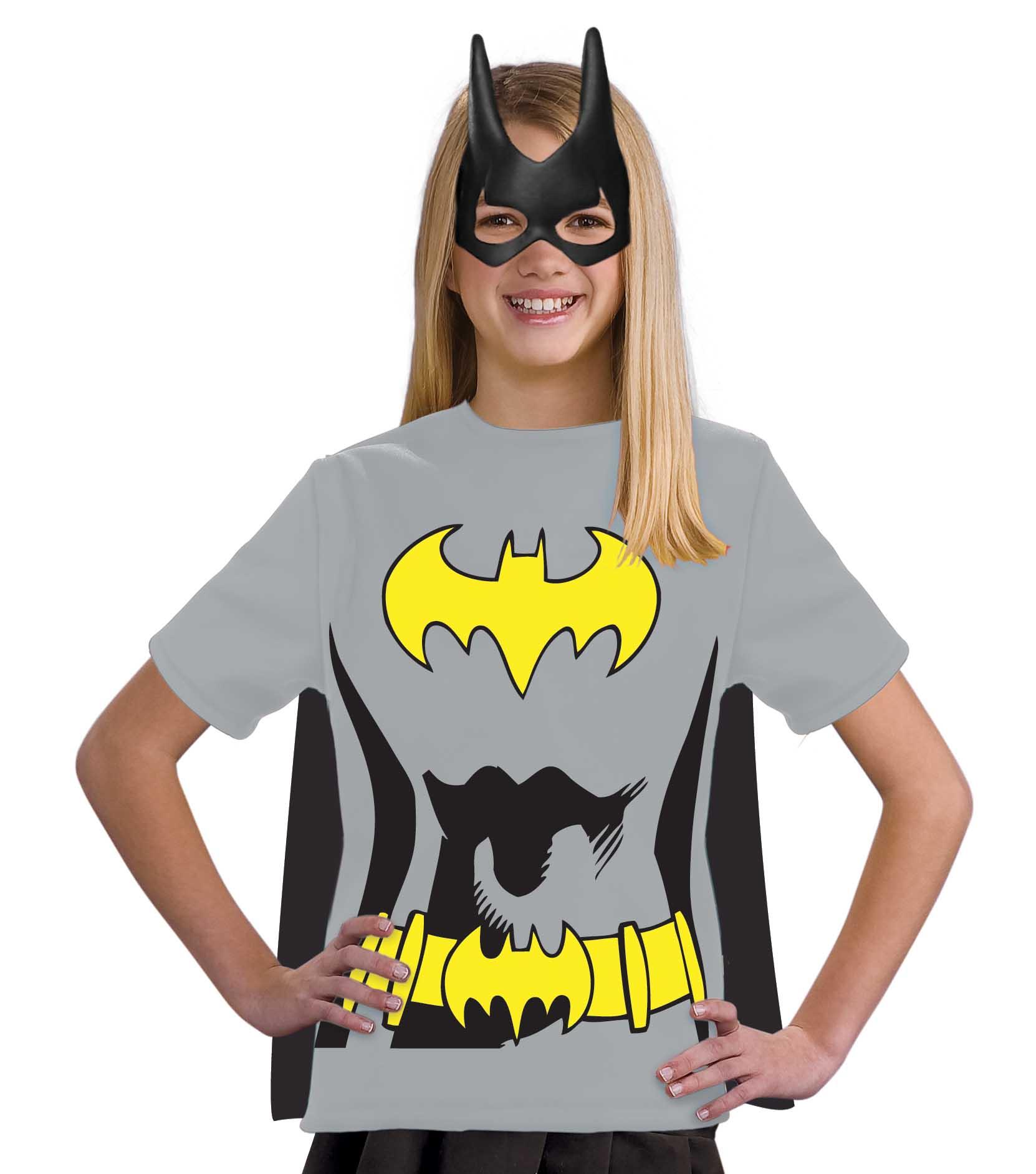 Rubie's Costume Co Kids Girls Batgirl Batman Halloween Costume Tee Shirt Mask & Cape at Sears.com