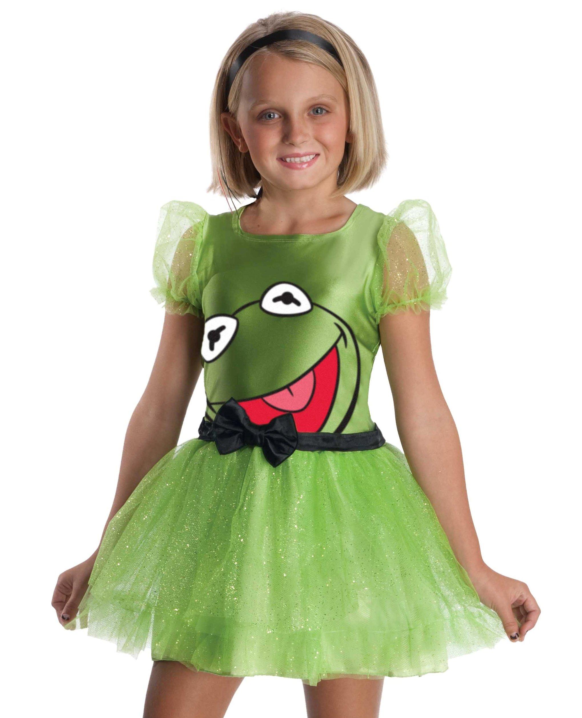 Kids Girls Kermit Frog Muppets Halloween Costume Dress