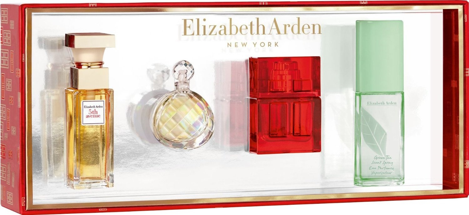5th ave untold red door green tea elizabeth arden womens perfume mini set nib