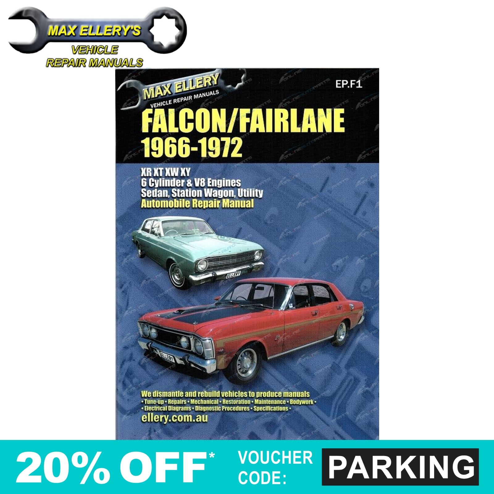 workshop repair manual ford falcon fairlane xr xt xw xy 66. Black Bedroom Furniture Sets. Home Design Ideas