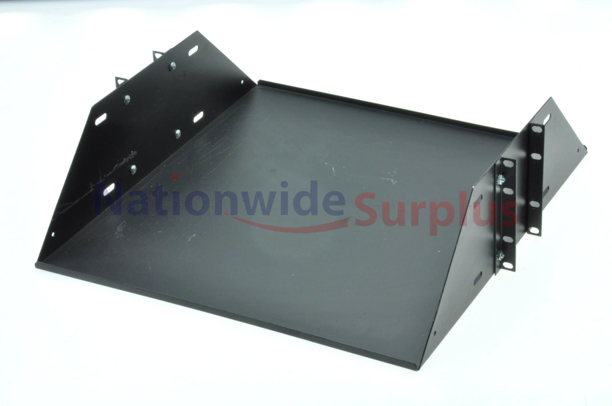 black 19 x19 x 4u center post mount server rack shelf ebay. Black Bedroom Furniture Sets. Home Design Ideas