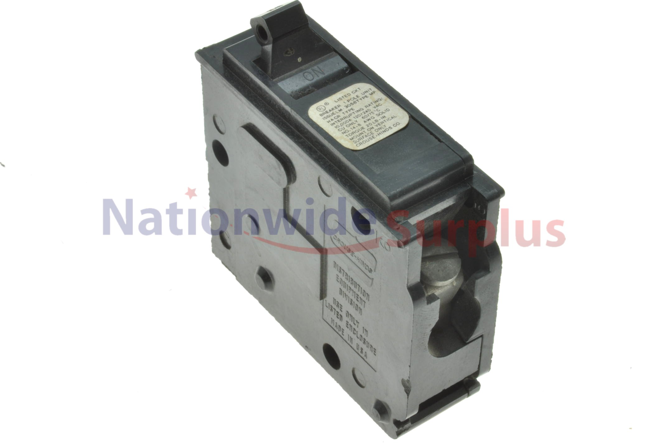 Crouse Hinds Breakers Mp2020 Murray Circuit Breaker New Used And Obsolete Crousehinds Type Mp 1 Pole 20 Amp Mp120