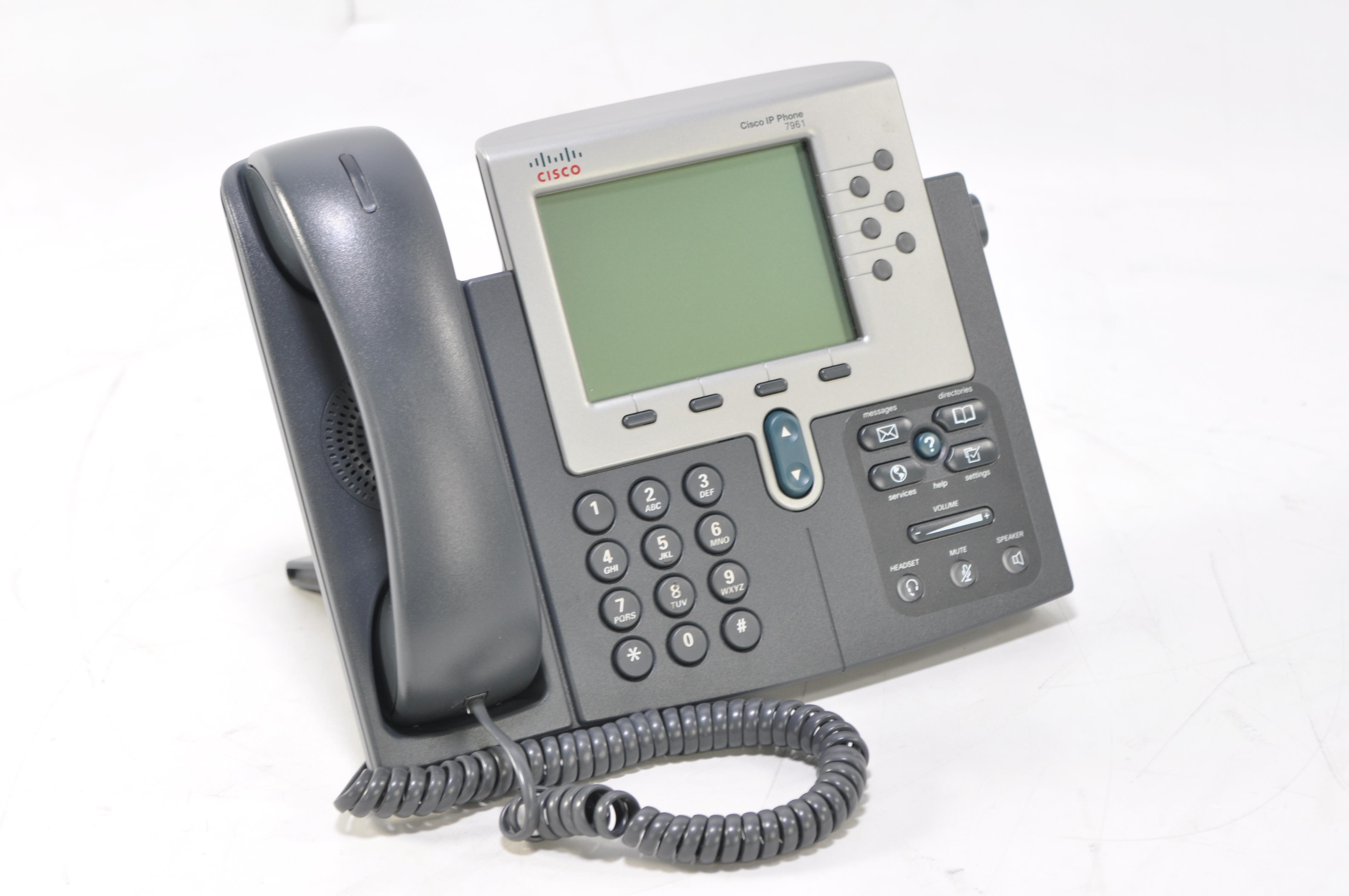 Cisco IP Teléfono 7961 CP-7961G-GE Voip CP 7961 Con Levantador De ...