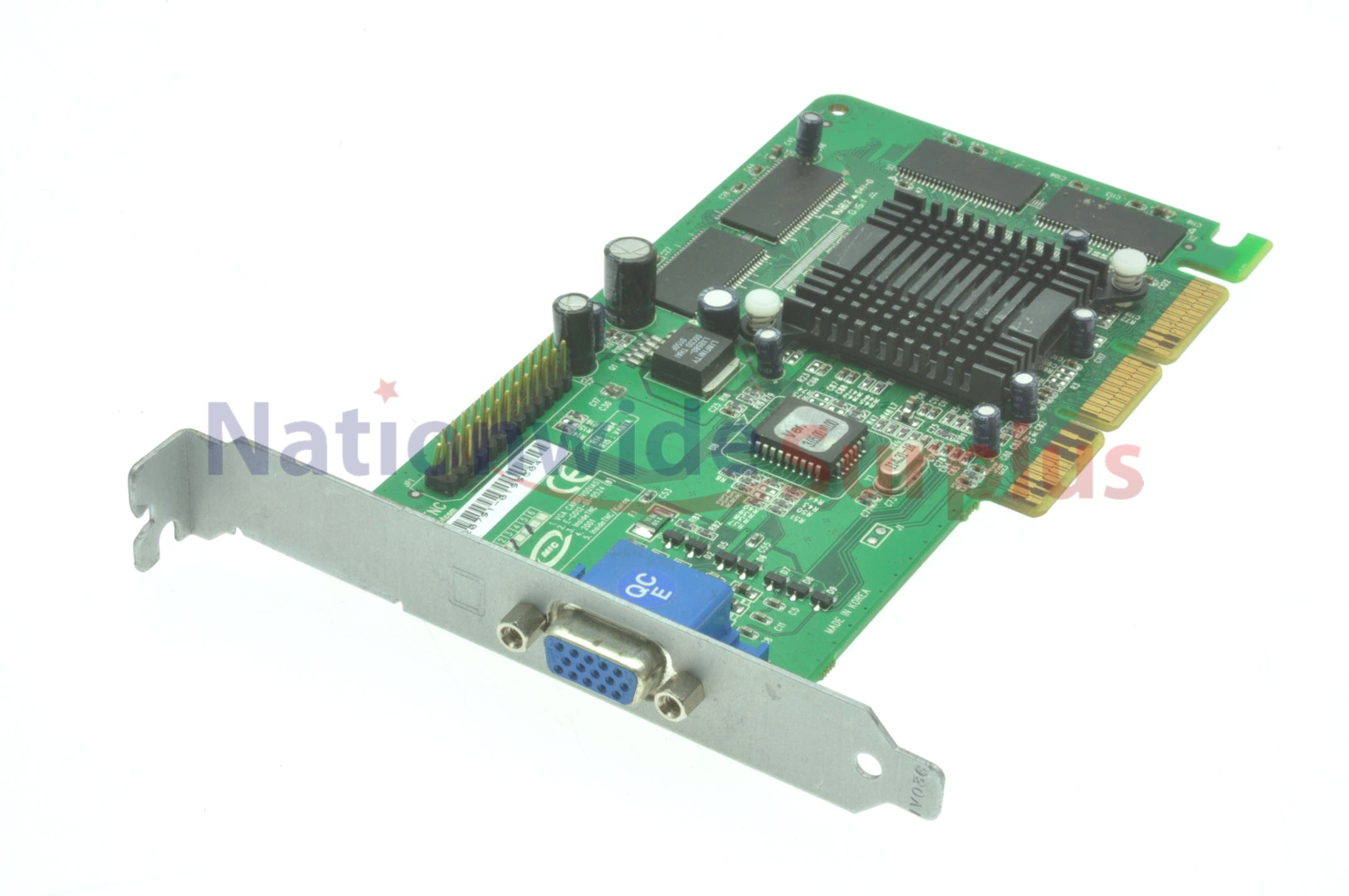 Agp graphics card in pcie slot