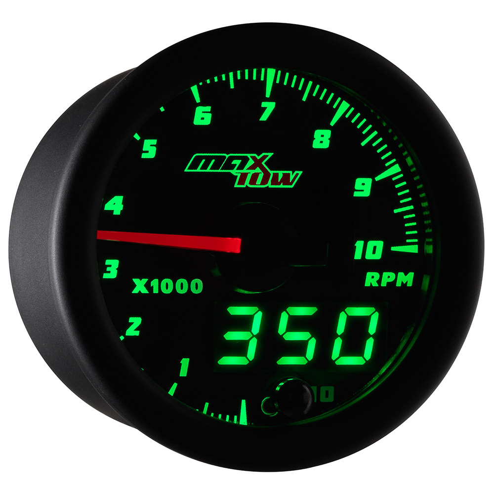 52mm Black Maxtow Double Vision 10 000 Rpm Tachometer