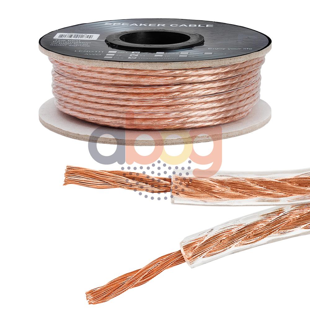 What Gauge Wire For Speakers : Car home audio speaker wire gauge ft