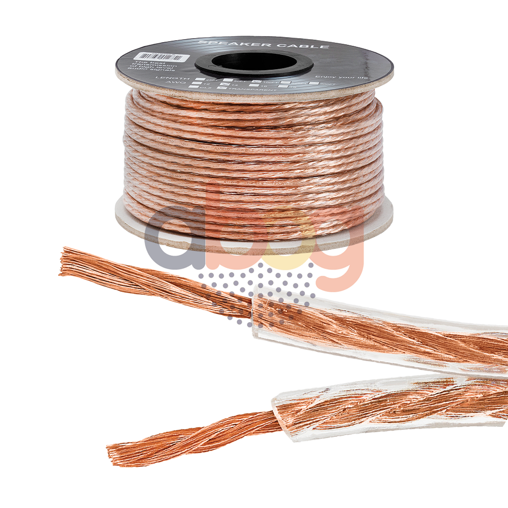 ft feet true  ga gauge awg speaker wire cable car home audio  conductor ebay