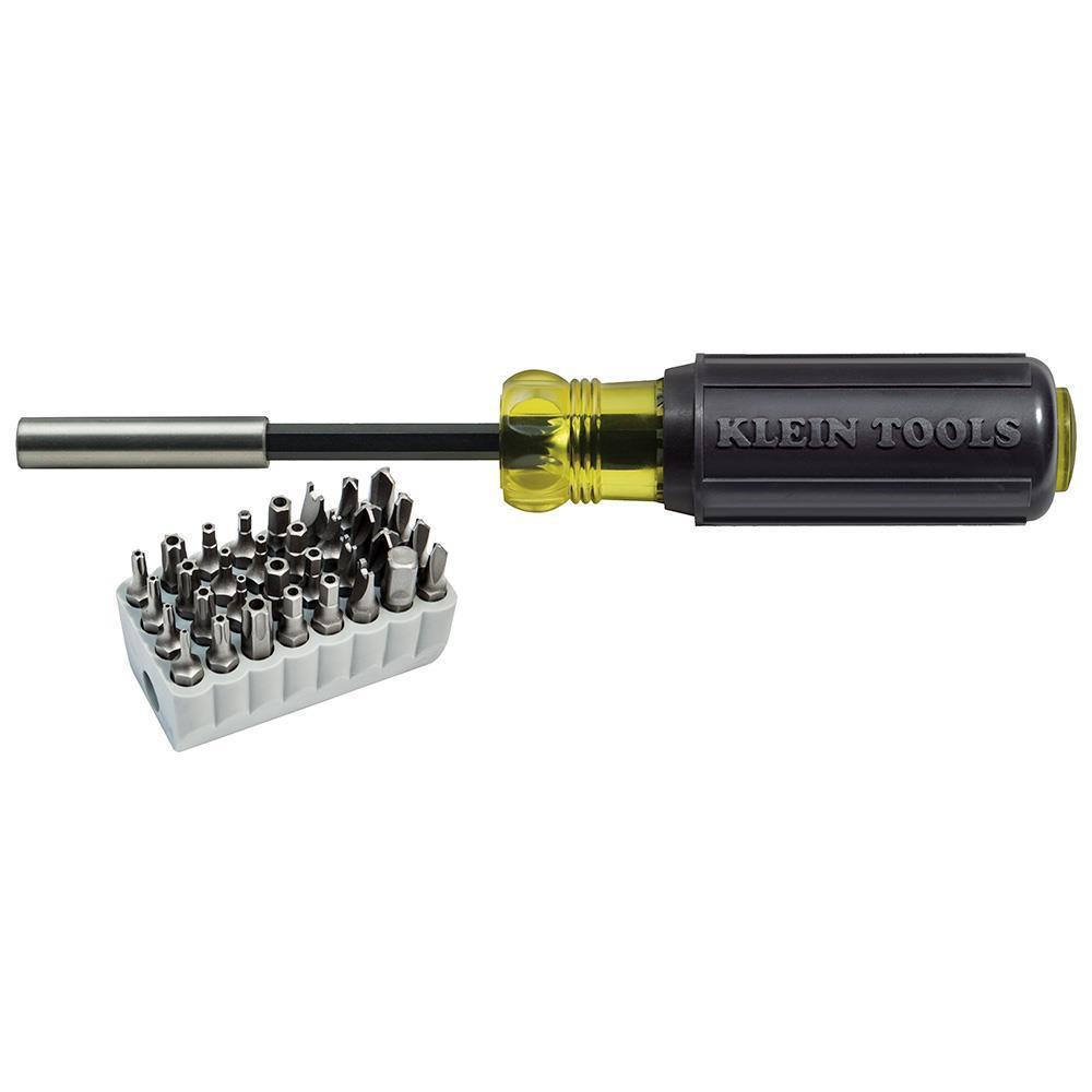 klein tools 32510 screwdriver w 32 piece tamperproof bit set ebay. Black Bedroom Furniture Sets. Home Design Ideas