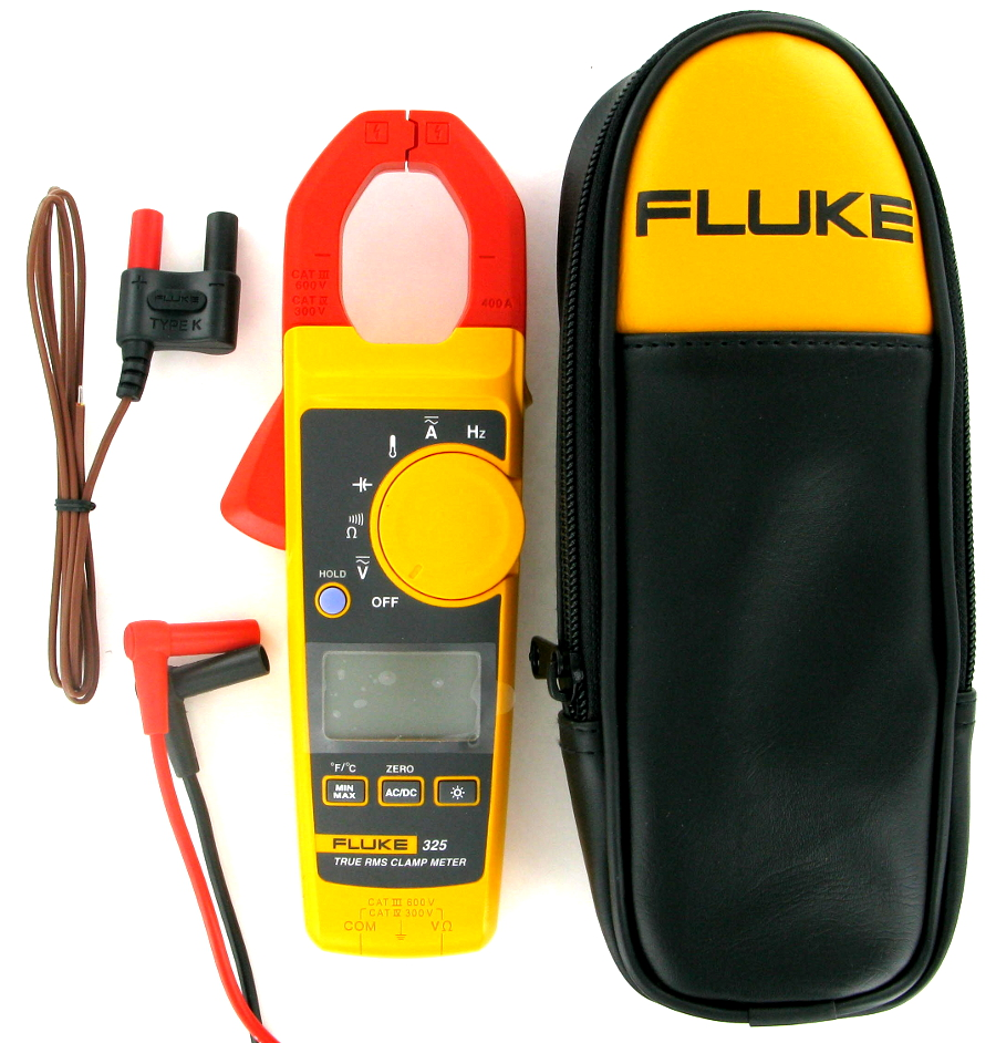 Image of New Fluke 325 True-RMS Clamp Meter