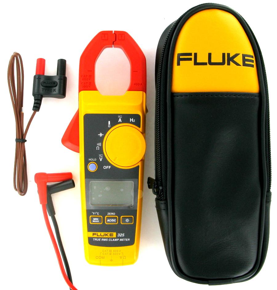 Image of New Fluke 325 True-RMS Clamp Meter