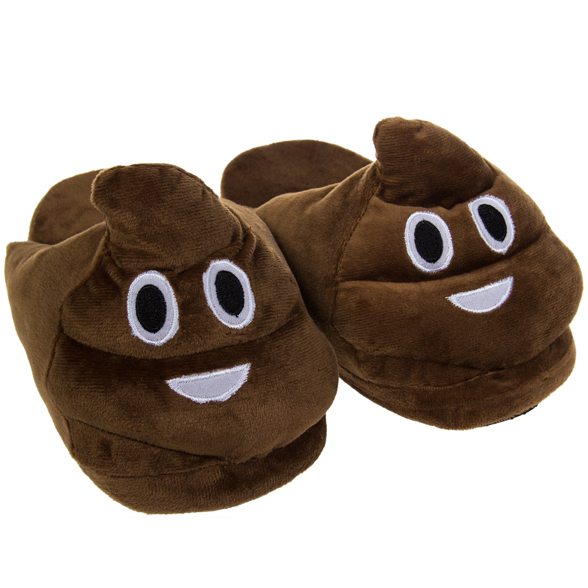 Emoji House Slippers Funny Soft Plush For Adults Kids Teens Bedroom Smiley Poop Ebay