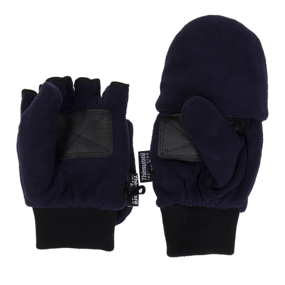 The Manzella Men's Cascade Convertible Fleece Gloves are a heavyweight fleece convertible mitten/glove with flip-mitt versatility for easy use with touch screen devices. Thinsulate insulation and a micro-fleece composition provide cozy warmth.