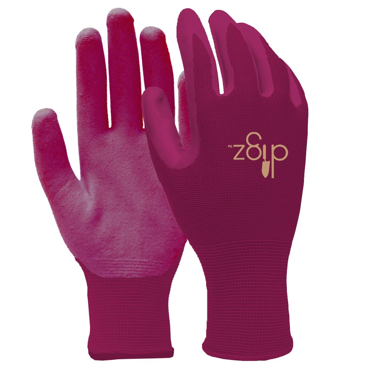 6 pairs digz women nitrile coated gardening gloves ladies for Gardening gloves ladies
