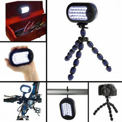 Grippit-Flexible-Spider-Tripod-w-LED-Magnetic-Hook-Light-Hang-Grip-Camera