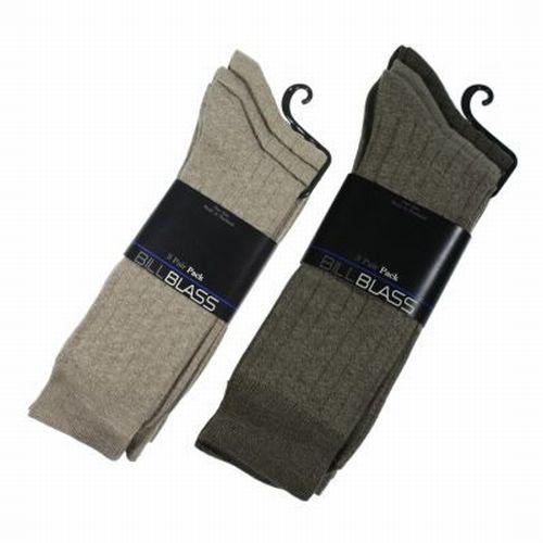 6-Pair-Men-s-Bill-Blass-Tall-Dress-Socks-Sock-Size-10-13-Choose-Tan-Or-Multi