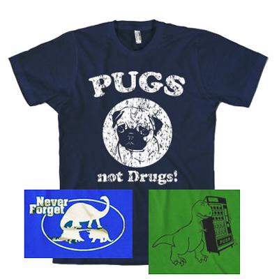 Animal-Theme-T-Shirts-Choose-From-5-Designs-100-Cotton-Mens-Funny-Dog-Dinosaur
