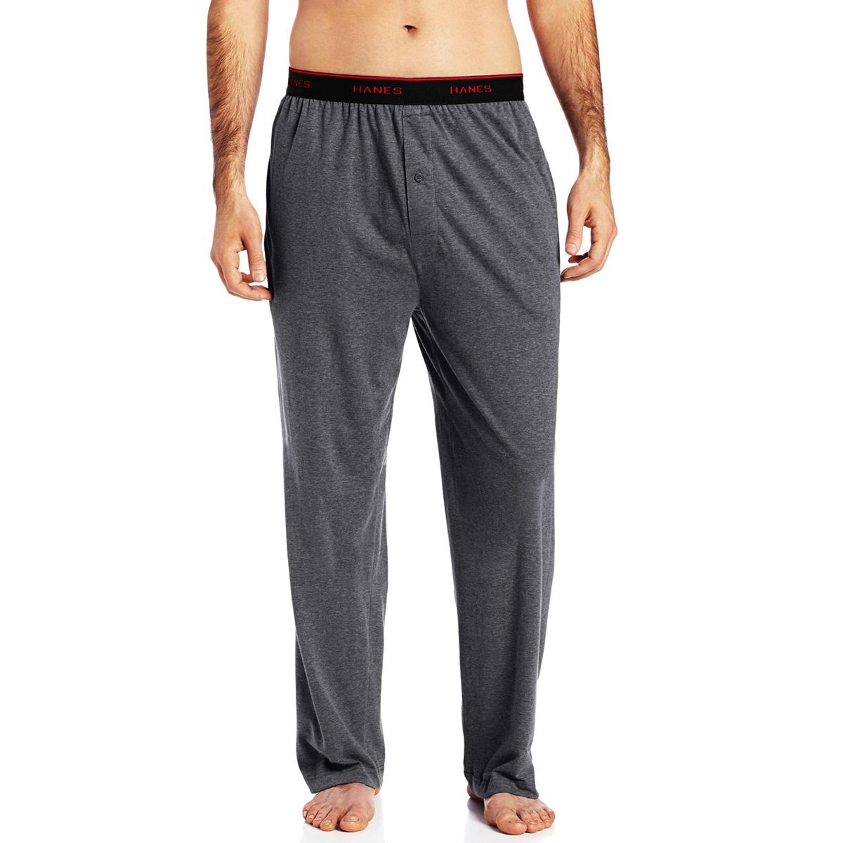 Hanes Men's Tagless Sleep Lounge Pants Solid Soft Knit