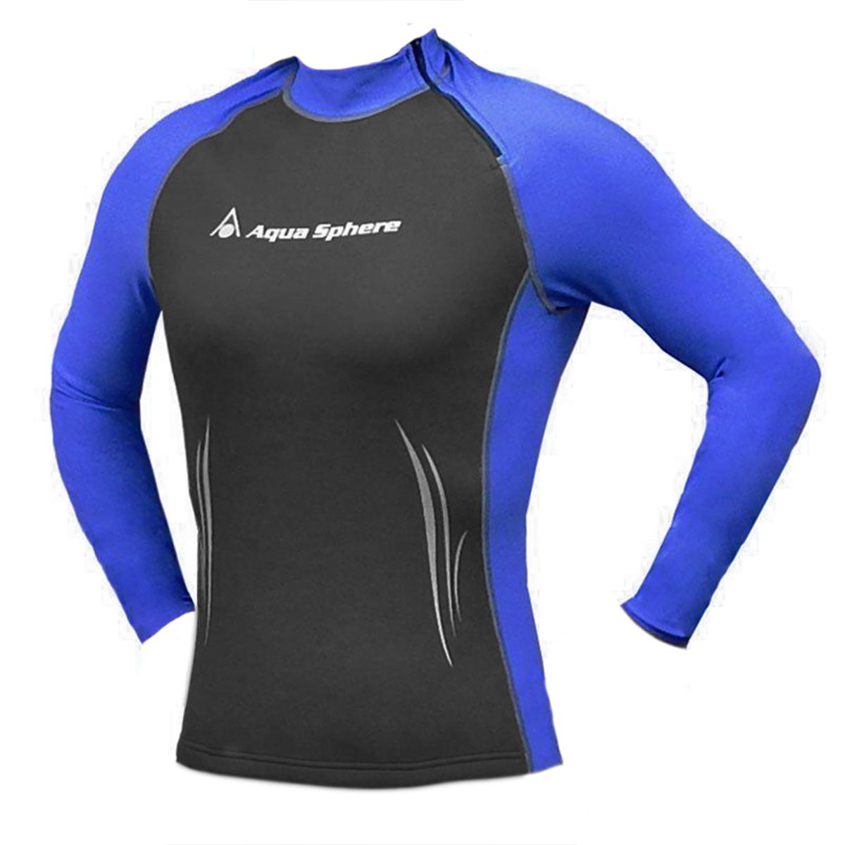Aqua sphere women s swim skin wetsuit top long sleeve high for Womens rash guard shirts