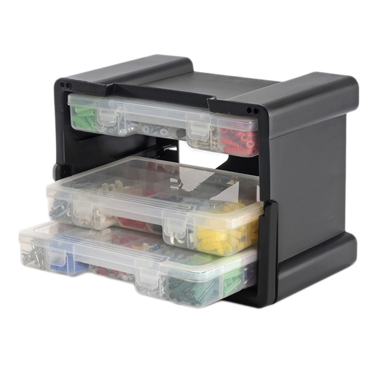 Plastic Portable Storage : Keter drawer organizer case portable handled plastic
