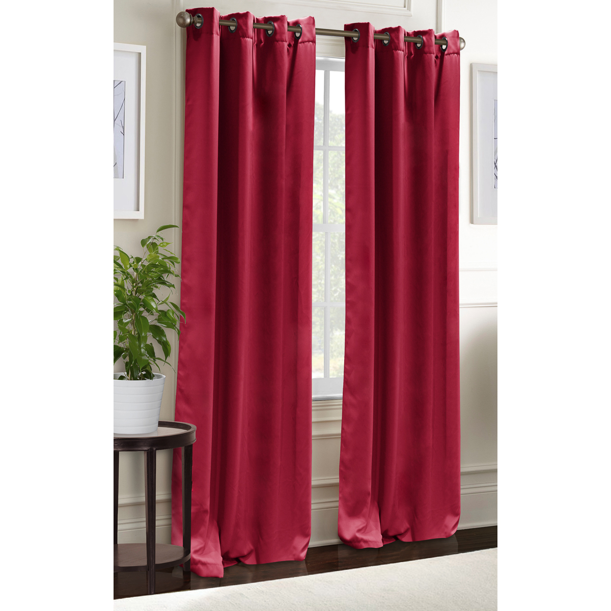 blackout curtains grommet window panel pair 38 x84 room darkening