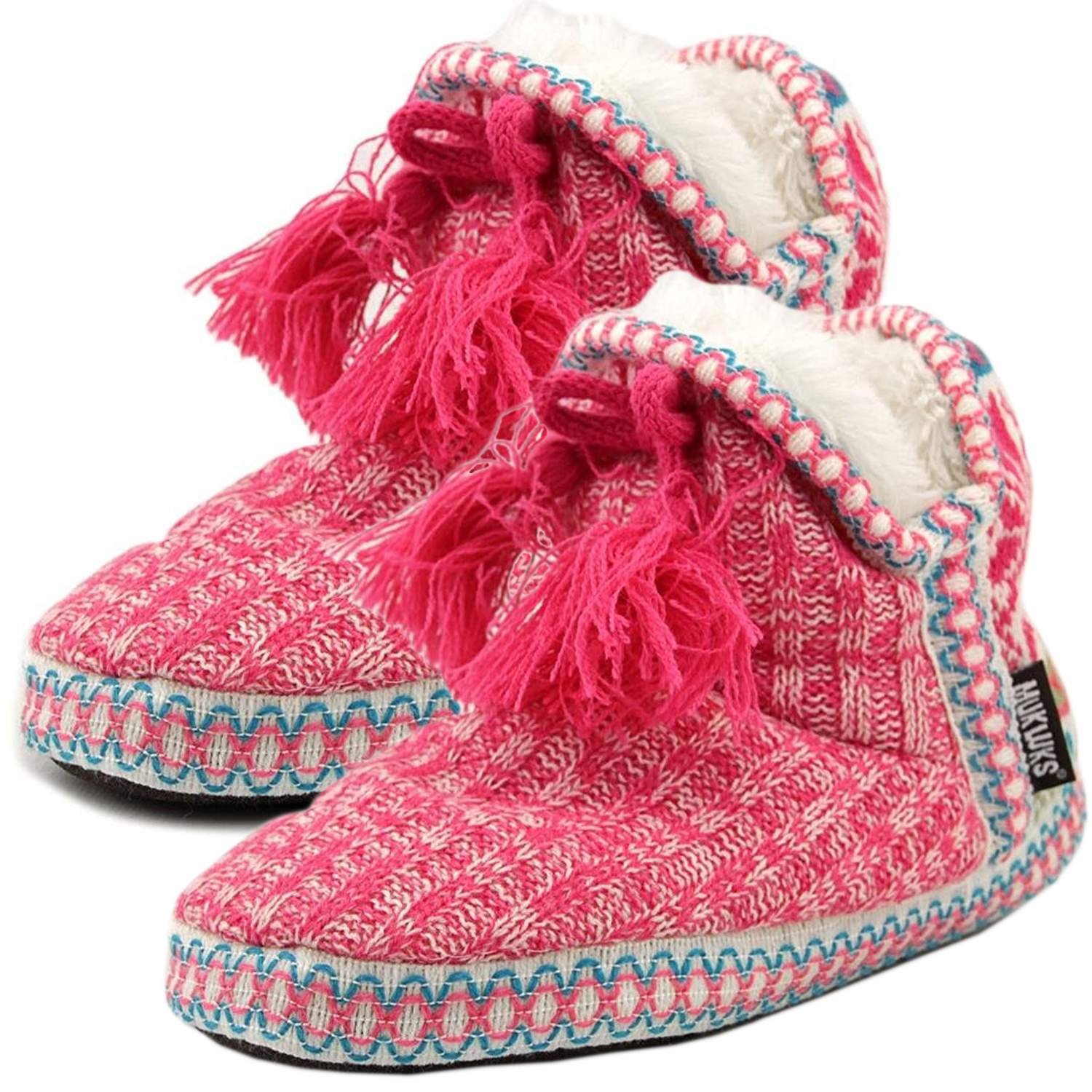 Knitting On The Net Slippers : Muk luks womens slipper boots indoor house shoes cute
