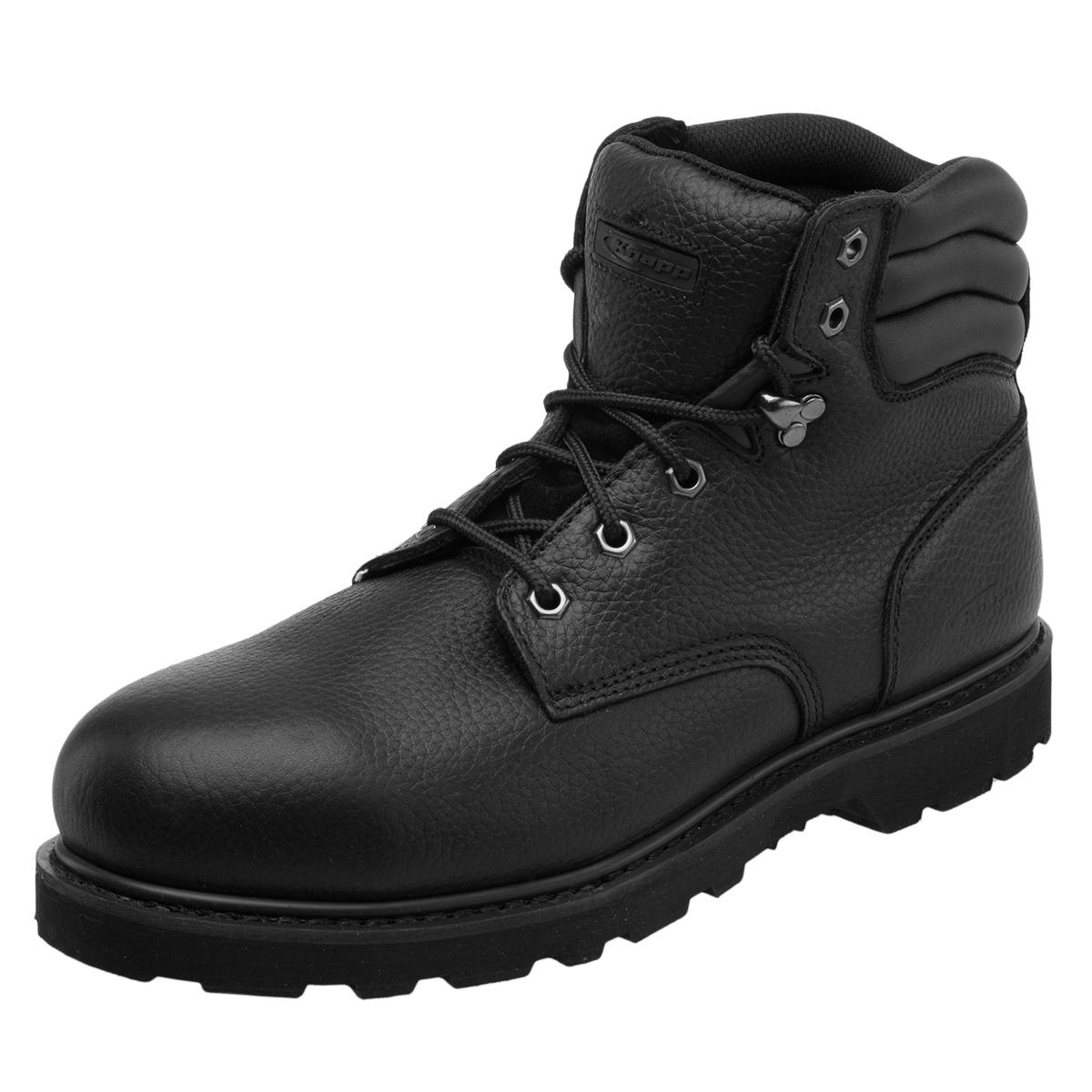 Knapp Backhoe Steel Toe Leather Mens Work Boot Construction Safety Comfort Shoes | EBay