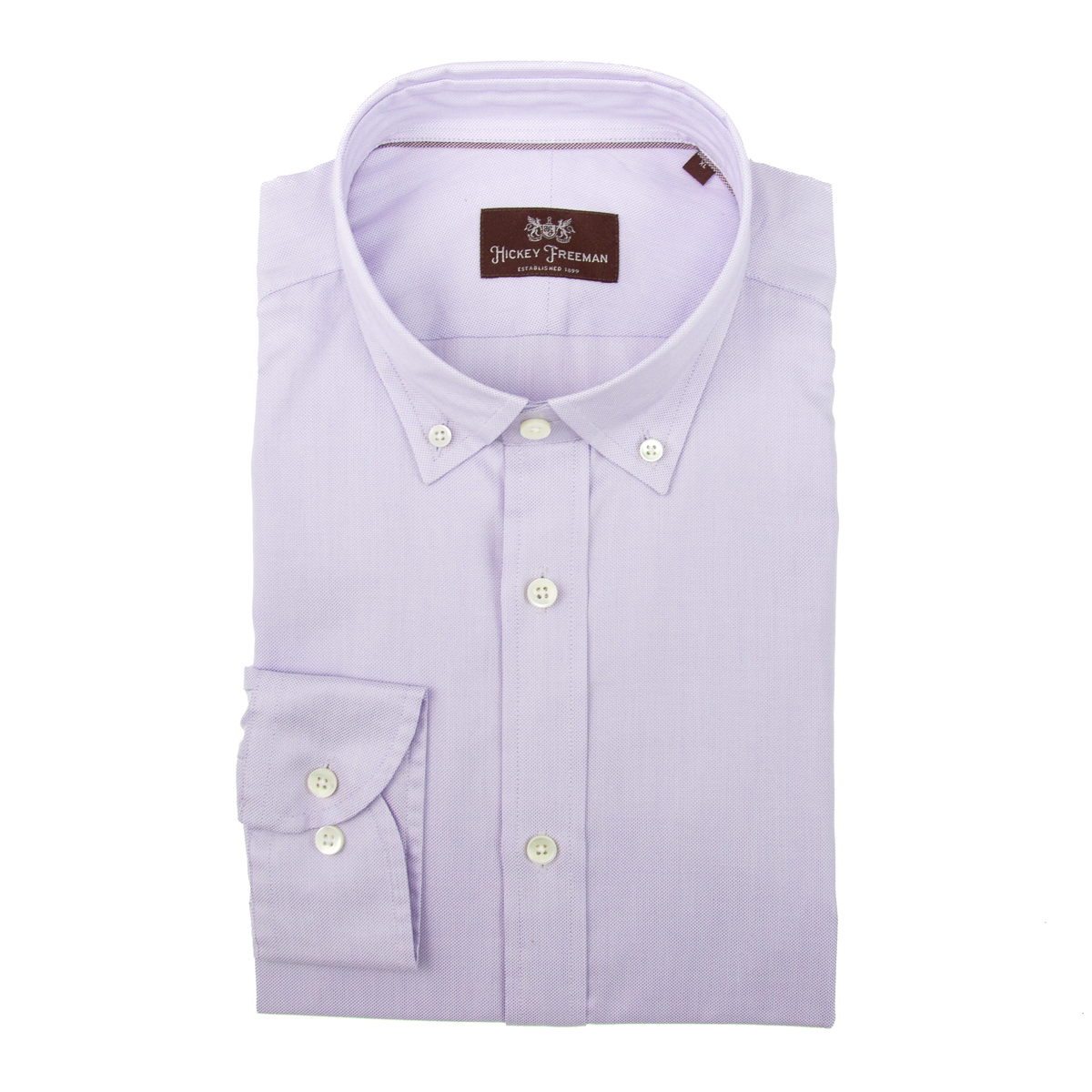 Hickey freeman men s long sleeve cotton dress shirt button for Men s spread collar shirts