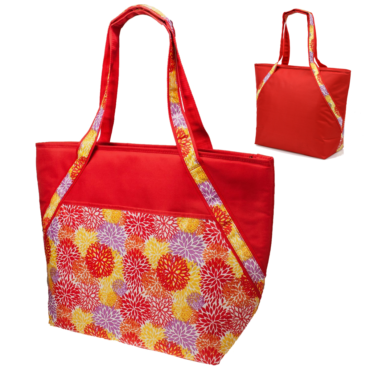 Sachi pink insulated fashion lunch tote 88