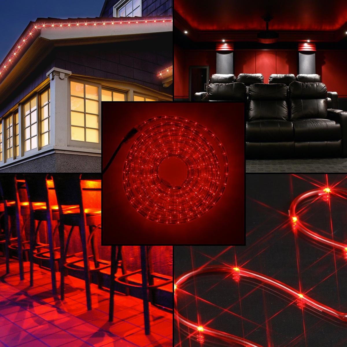 American Lighting 10pk 5ft Red Led Rope Light Christmas