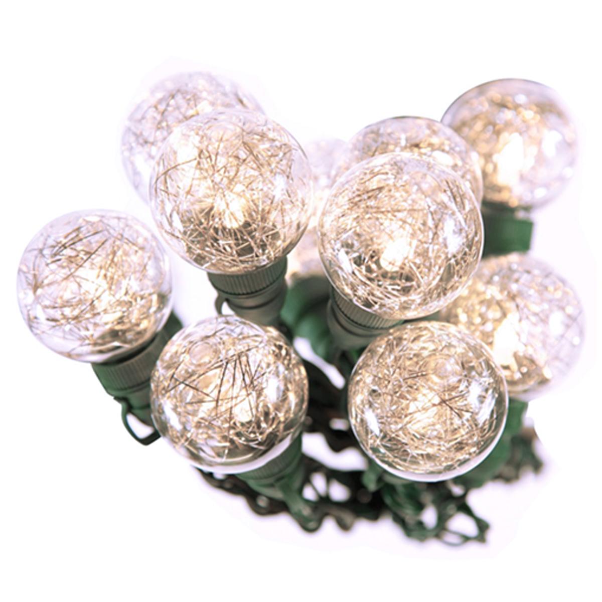 Led String Lights G40 : Bethlehem 20 LED 25ft G40 Tinsel String Lights Christmas Holidays Indoor Outdoor eBay