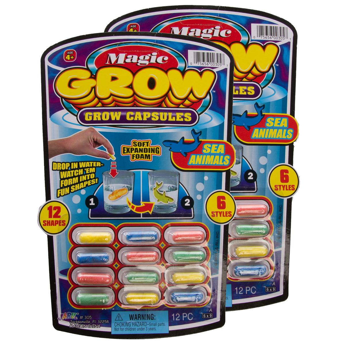 24ct Ja-Ru Magic Grow Capsules Foam Water Or Bath Toys For Kids Party Favor Bulk