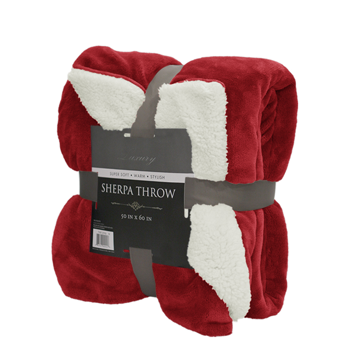 Reversible sherpa throw blanket 50 x 60 color warm soft for Soft blankets and throws