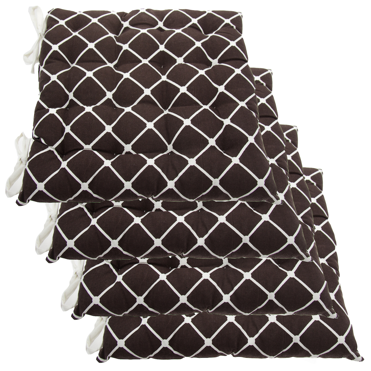 Set Of 4 Cotton Indoor Reversible Chair Pads amp Ties  : u2846 from www.ebay.com size 1200 x 1200 jpeg 1014kB