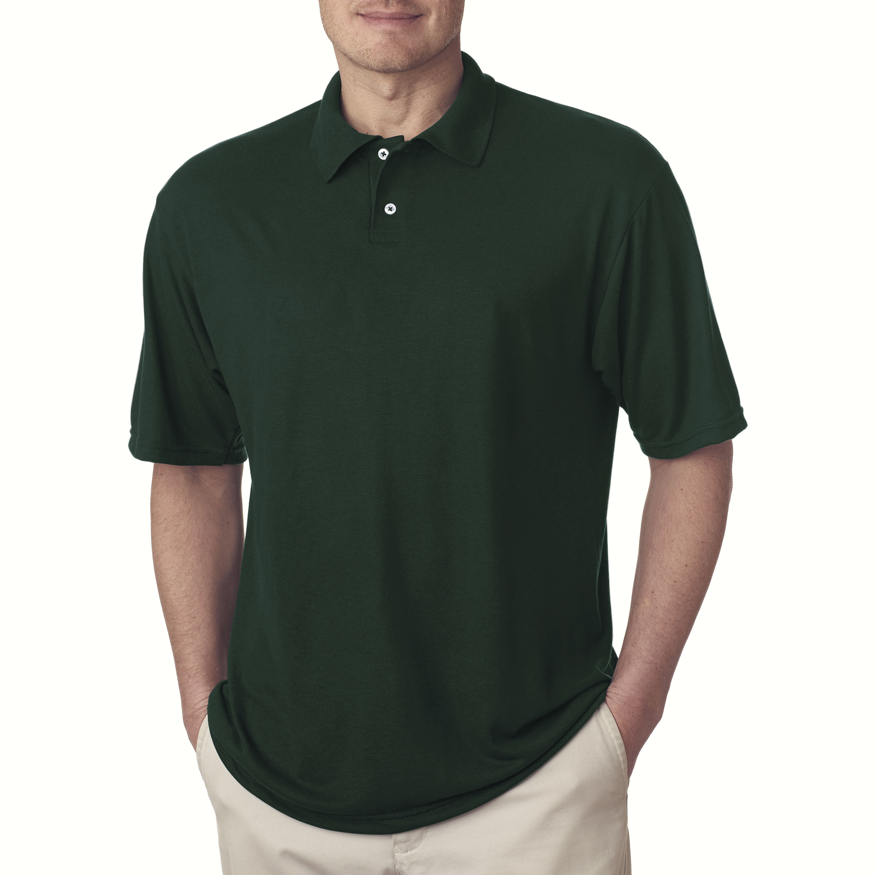 Jerzees Short Sleeve Polyester Polo Sport Shirt For Men