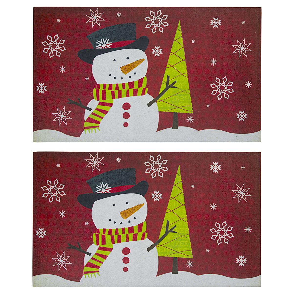 2pk Holiday 17 X 29 Outdoor Doormats Non Slip Christmas