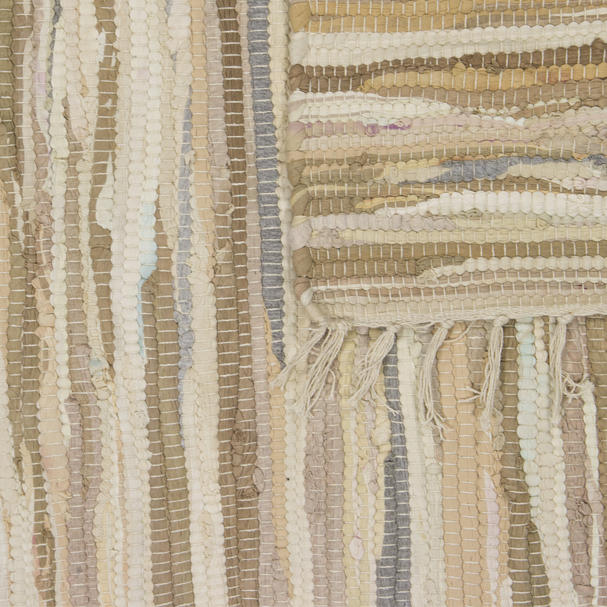 Chindi 4' X 6' Area Variegated Recycled Rag Rug Multi