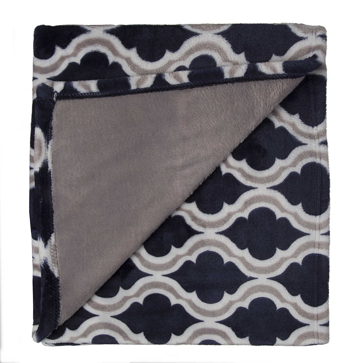 Crestwood soft plush luxe fleece 50 x 60 reversible throw for Soft blankets and throws