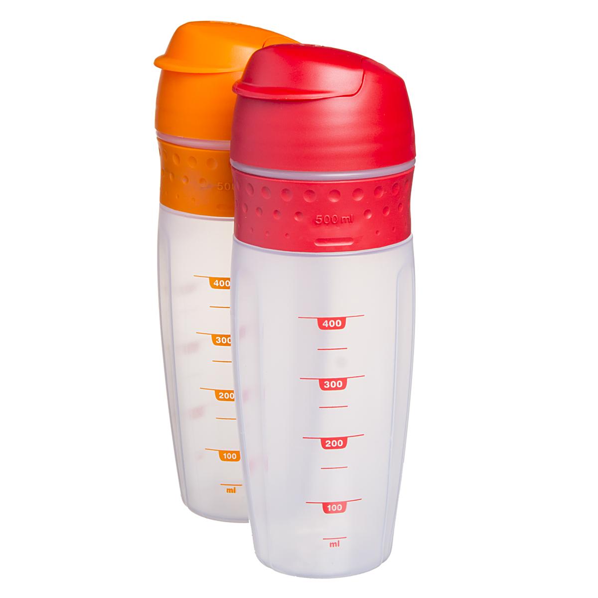 Protein Shaker Lid: 2pk Zyliss 500ml Quick Blender Shaker Bottles Snap Lid