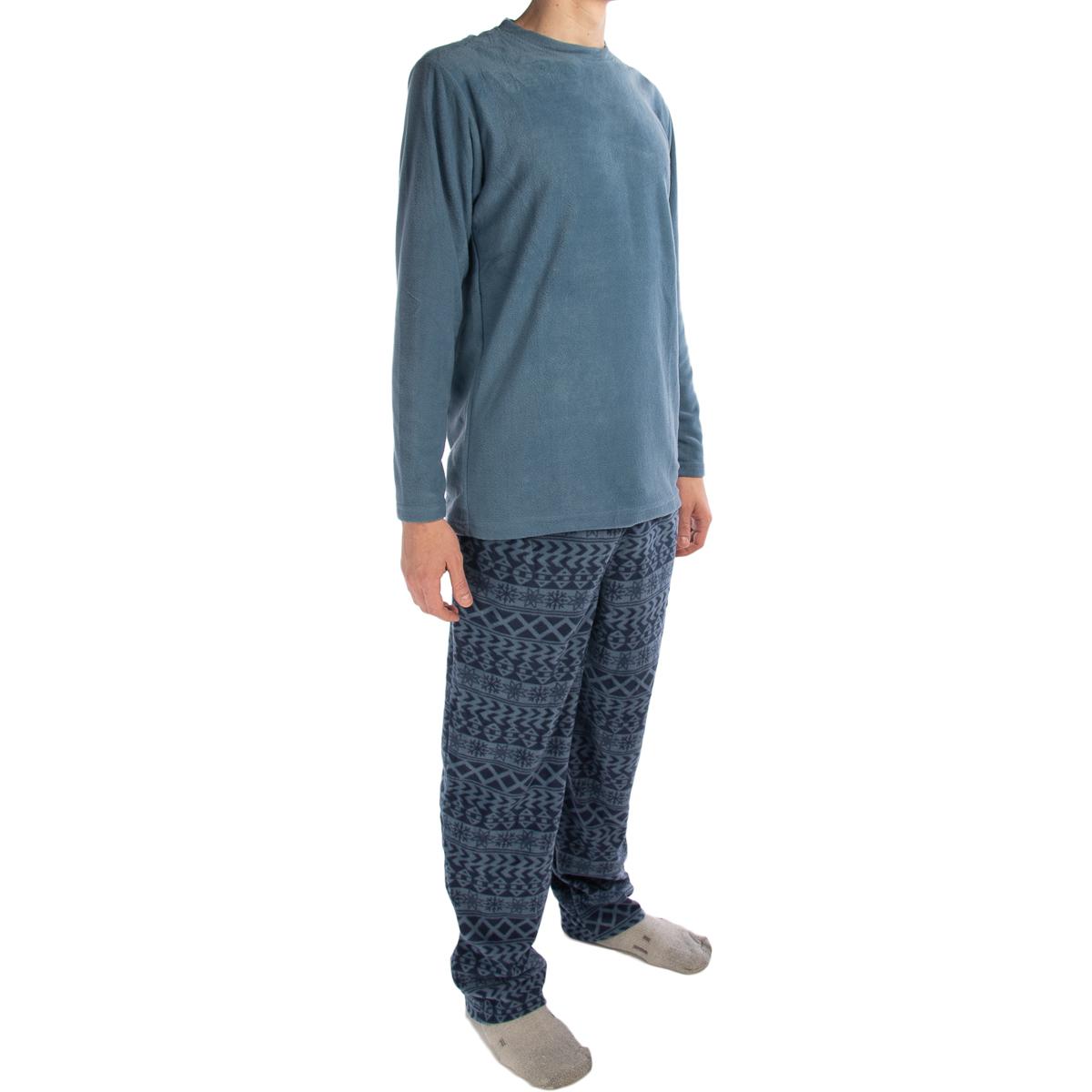 2pc Joe Boxer Men's Fleece Pajamas Set Shirt /& Pants PJ Sleepwear Top /& Bottom