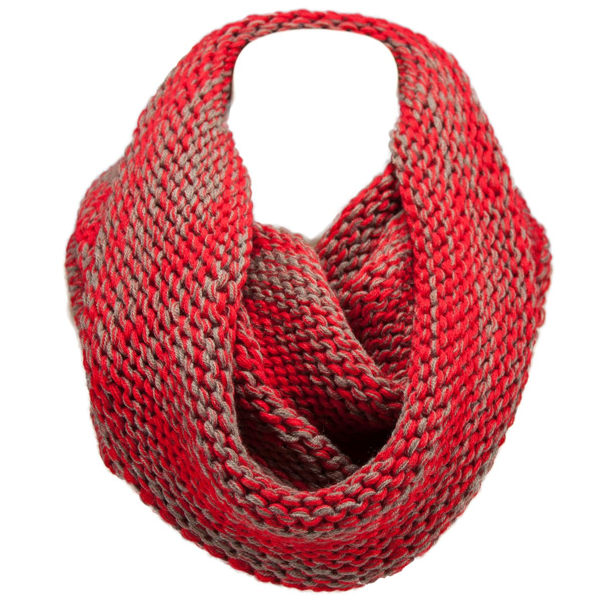 two tone knit infinity scarf winter fashion circle loop