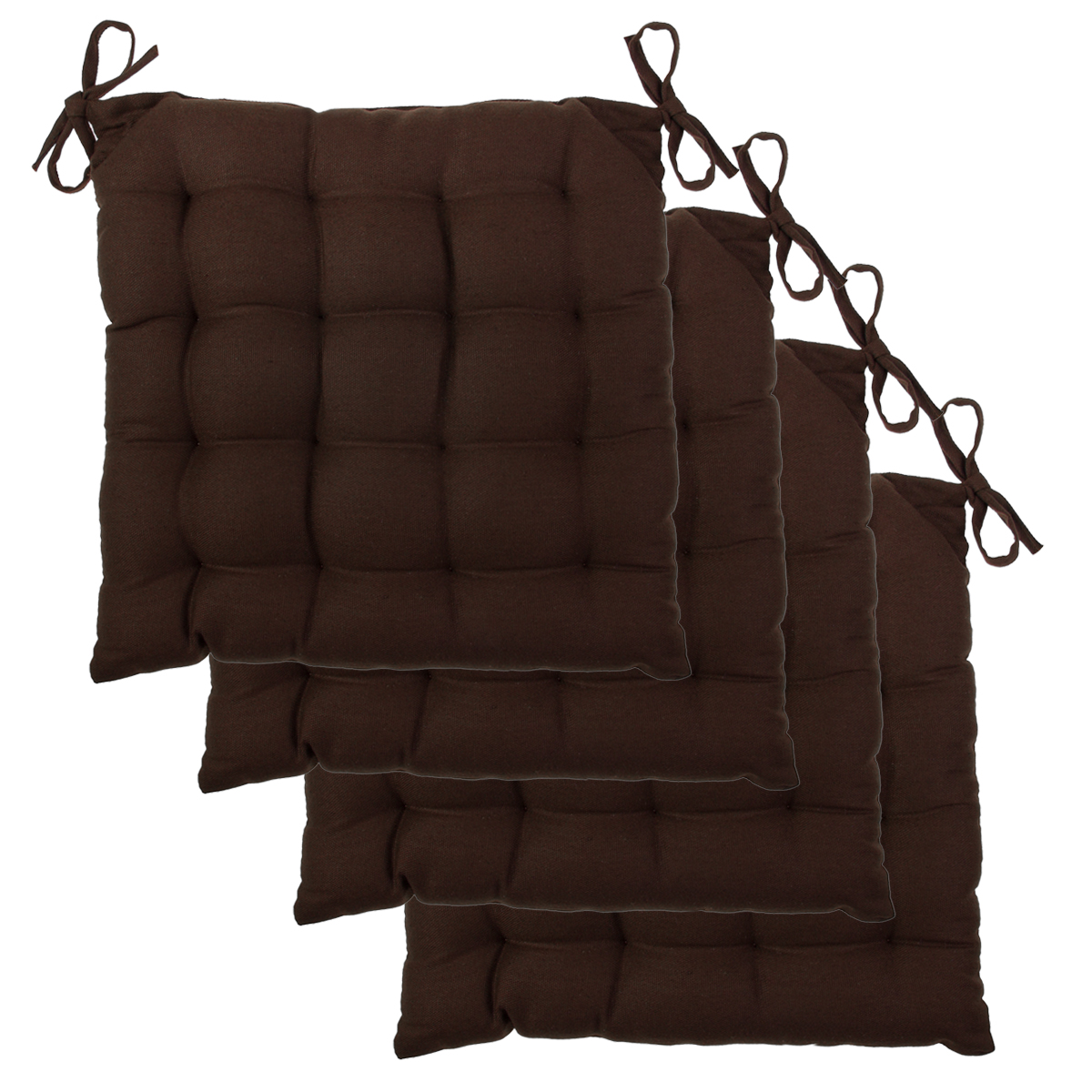 4pk Chair Pads Set Soft Tufted Cotton Canvas Padded Seat  : z236q2brown1 from www.ebay.ca size 1200 x 1200 jpeg 654kB