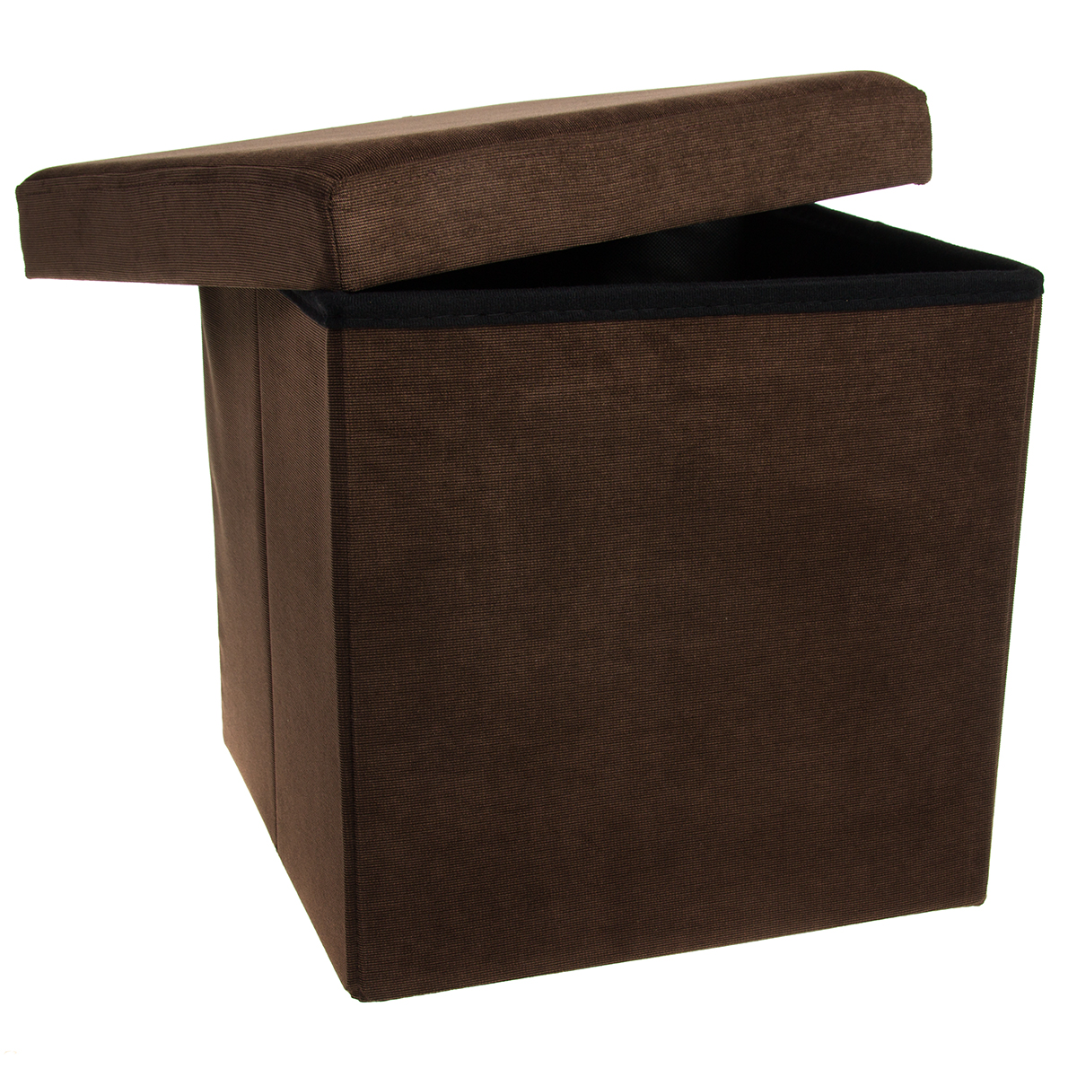 Storage Ottoman Cube Folding Fabric Square Foot Rest Coffee Table Collapsible Ebay