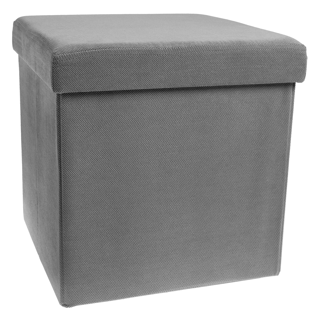 Storage ottoman cube folding fabric square foot rest for Foot storage ottoman